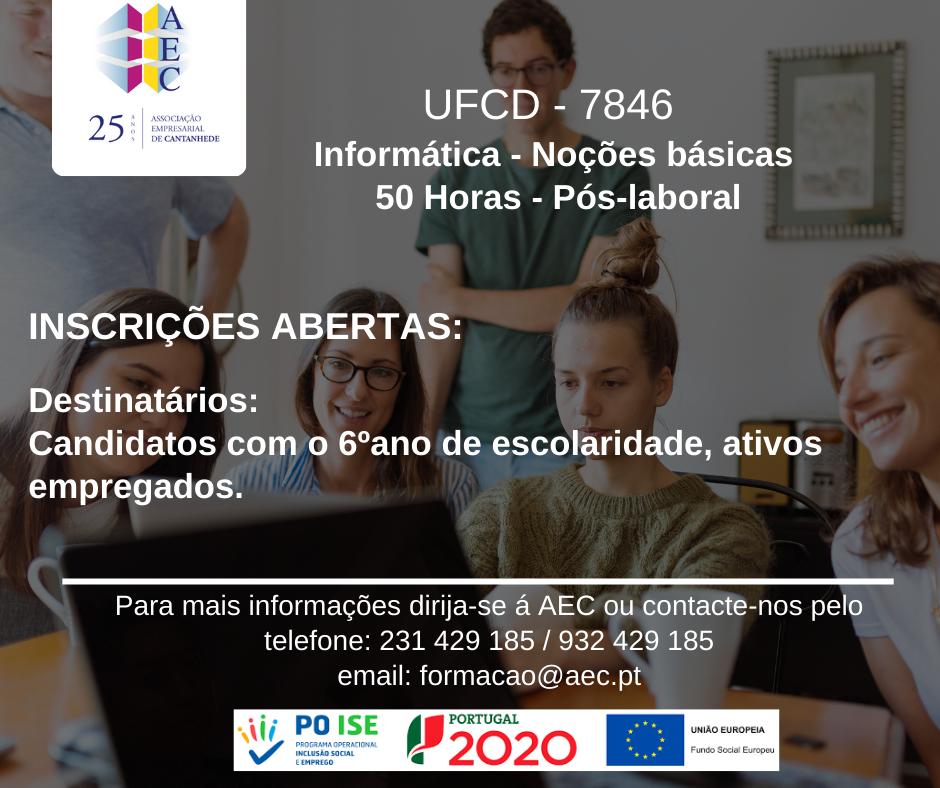 """Formação UFCD 7846  """"Informática - Noções Básicas"""""""